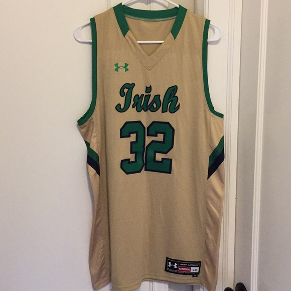 sports shoes 2467c 5569c Notre Dame Authentic Basketball Jersey
